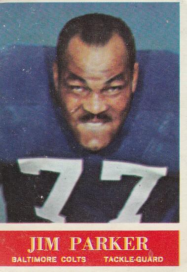 JIM PARKER 1964 PHILADELPHIA CARD #8