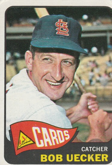 BOB UECKER 1965 TOPPS CARD #519 / HIGH NUMBER