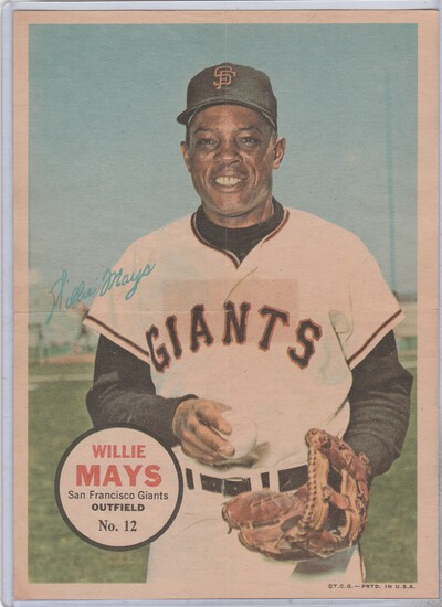WILLIE MAYS 1967 TOPPS POSTER #12