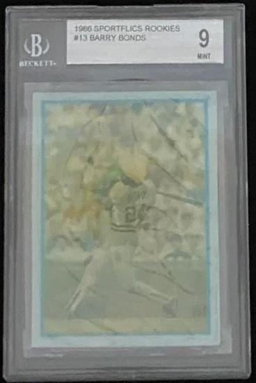 BARRY BONDS 1986 SPORTSFLICS ROOKIE CARD #13 / GRADED