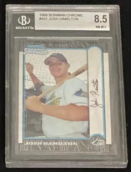 JOSH HAMILTON 1999 BOWMAN CHROME ROOKIE CARD #431 / GRADED