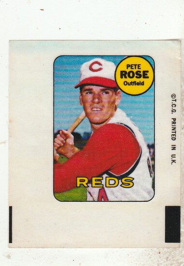 PETE ROSE 1969 TOPPS DECAL