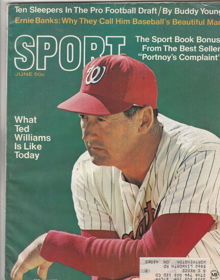SPORT MAGAZINE JUNE 1969 / TED WILLIAMS COVER