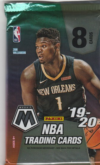 2019/20 MOSAIC BASKETBALL 8 CARD WAX PACK
