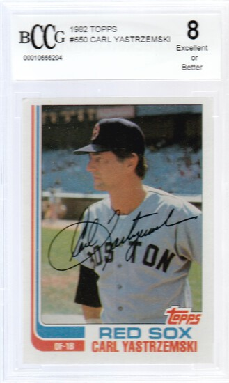 CARL YASTRZEMSKI 1982 TOPPS CARD #650 / GRADED