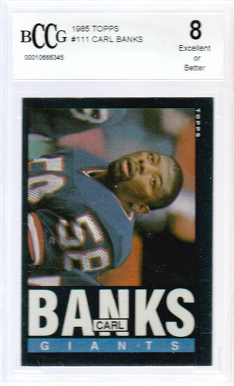 CARL BANKS 1985 TOPPS CARD #111 / GRADED