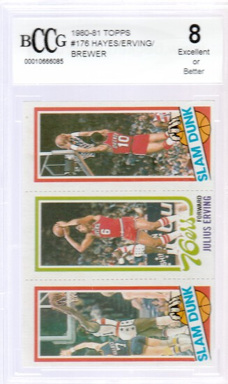 1980/81 TOPPS BASKETBALL CARD #176 JULIUS ERVING / GRADED