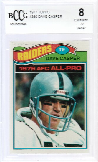 DAVE CASPER 1977 TOPPS ROOKIE CARD #380 / GRADED