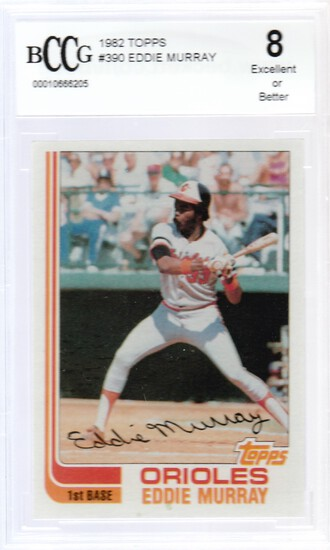 EDDIE MURRAY 1982 TOPPS CARD #390 / GRADED