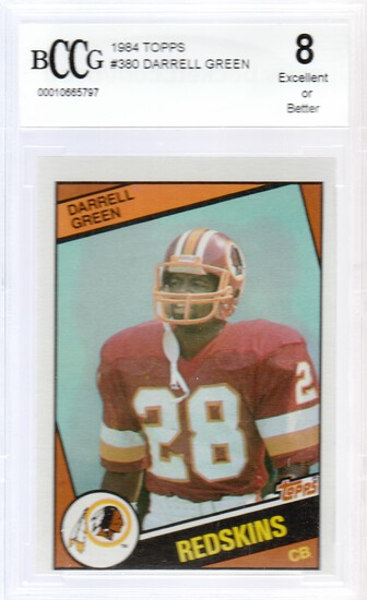 DARRELL GREEN 1984 TOPPS CARD #380 / GRADED