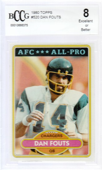 DAN FOUTS 1980 TOPPS CARD #520 / GRADED