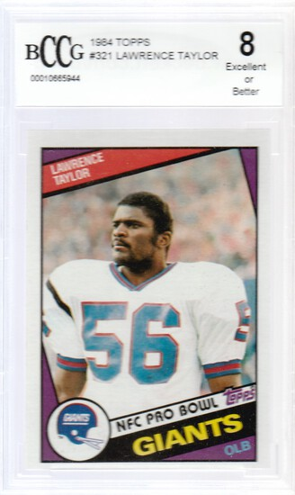 LAWRENCE TAYLOR 1984 TOPPS CARD #321 / GRADED