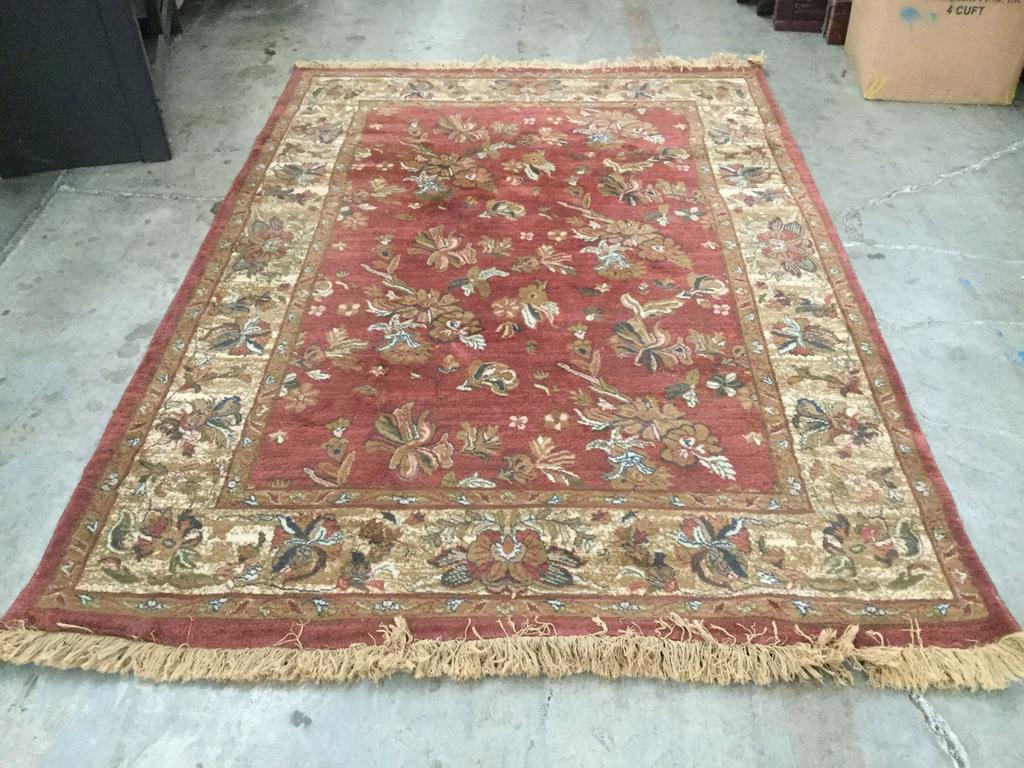 Antique Red Egyptian Wool Area Rug