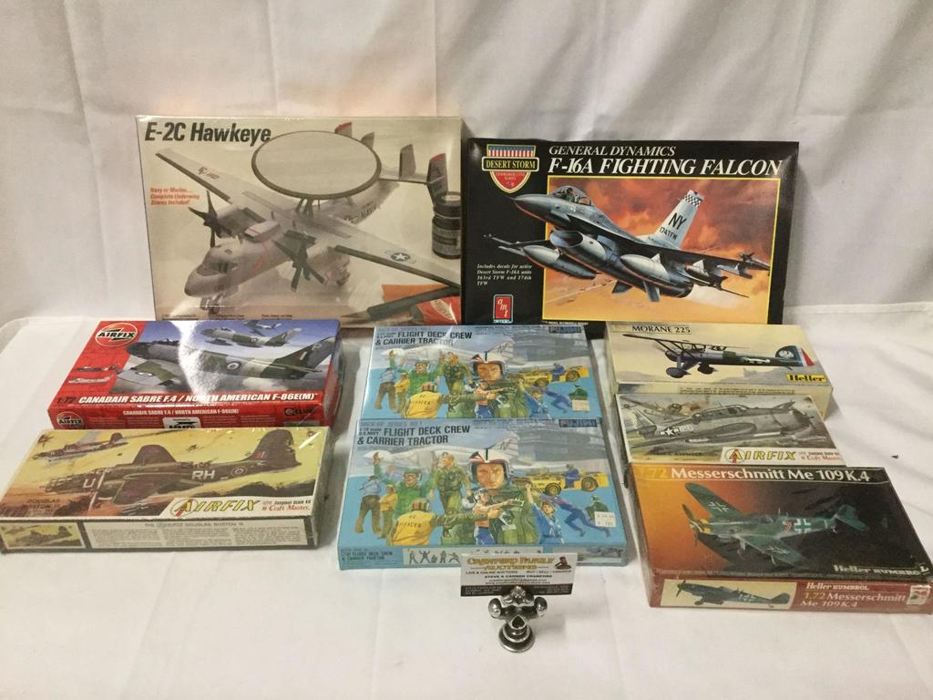 9 unused 1/72 scale military model kits (some sealed) incl