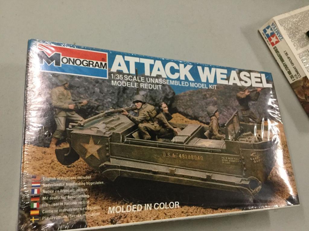 Lot: 3 military model kits by Monogram and Tamiya | Proxibid Auctions
