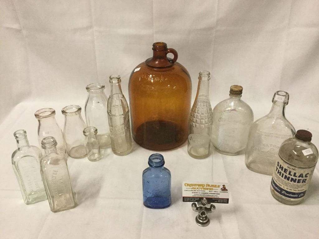 13 Antique Glass Bottles Bk Bacili Kil General Laboratories Madison Wis Usa Nesbitts More Art Antiques Collectibles Collectibles Vintage Retro Collectibles Auctions Online Proxibid
