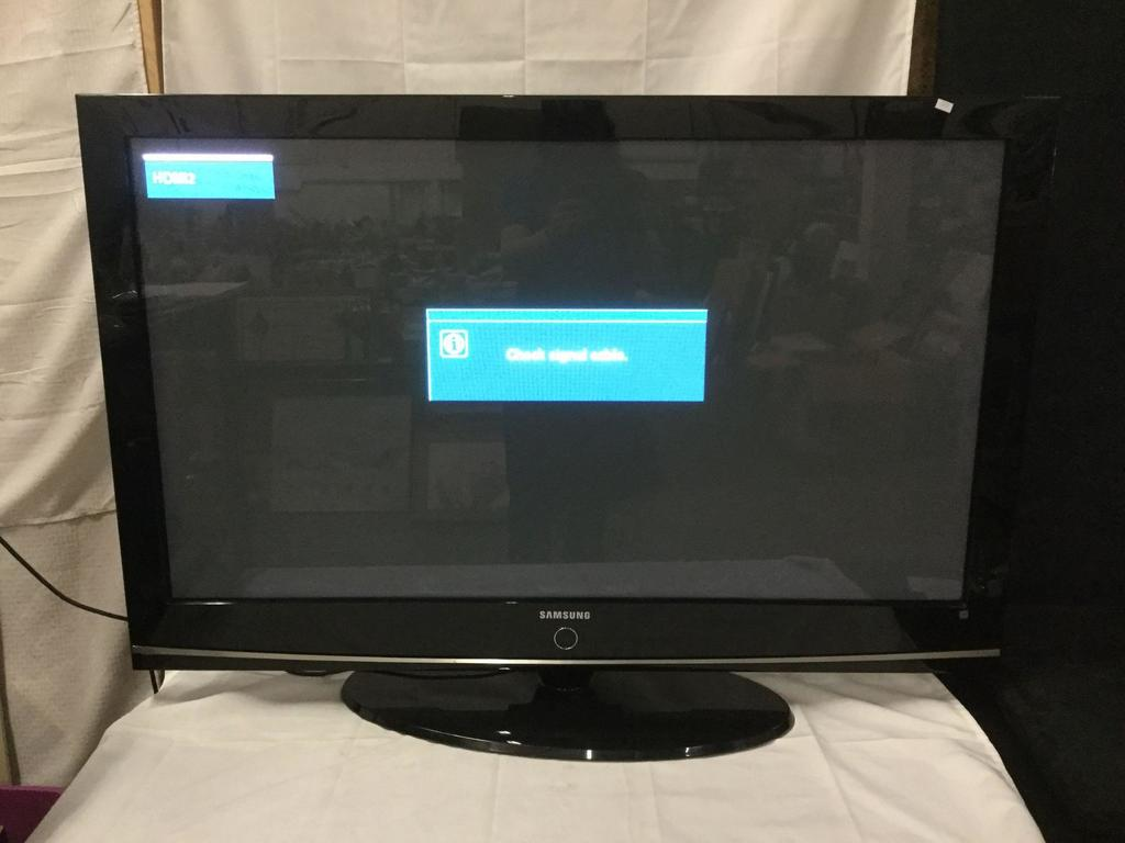 Samsung Plasma Display Tv Mod Auctions Online Proxibid Working Of Model Hp T5054 48 Inch Television Tested And