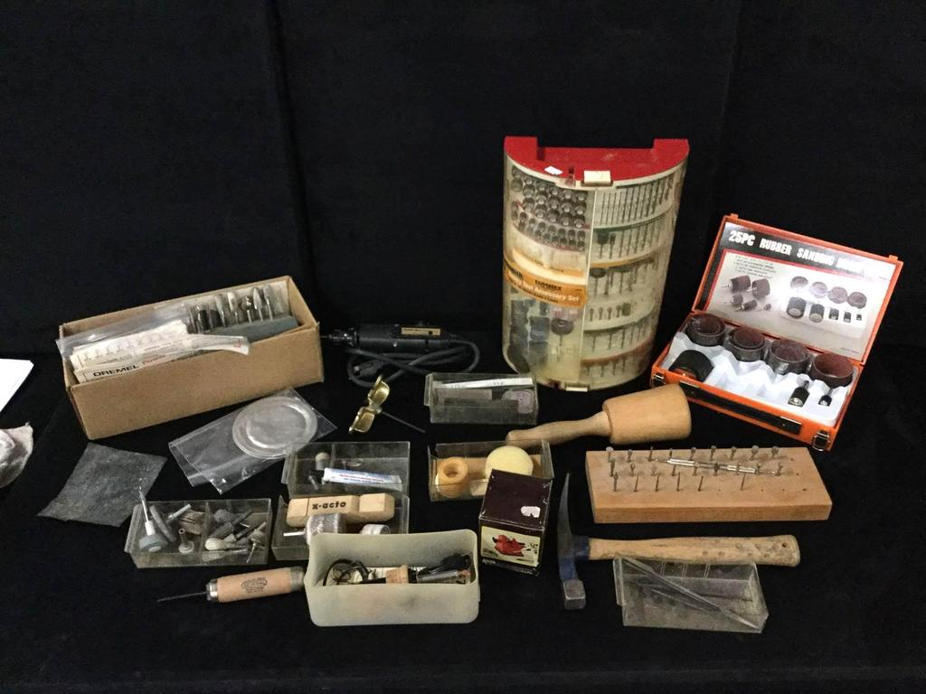 Lot Huge Woodworking Tools And Equipment Incl Dremel