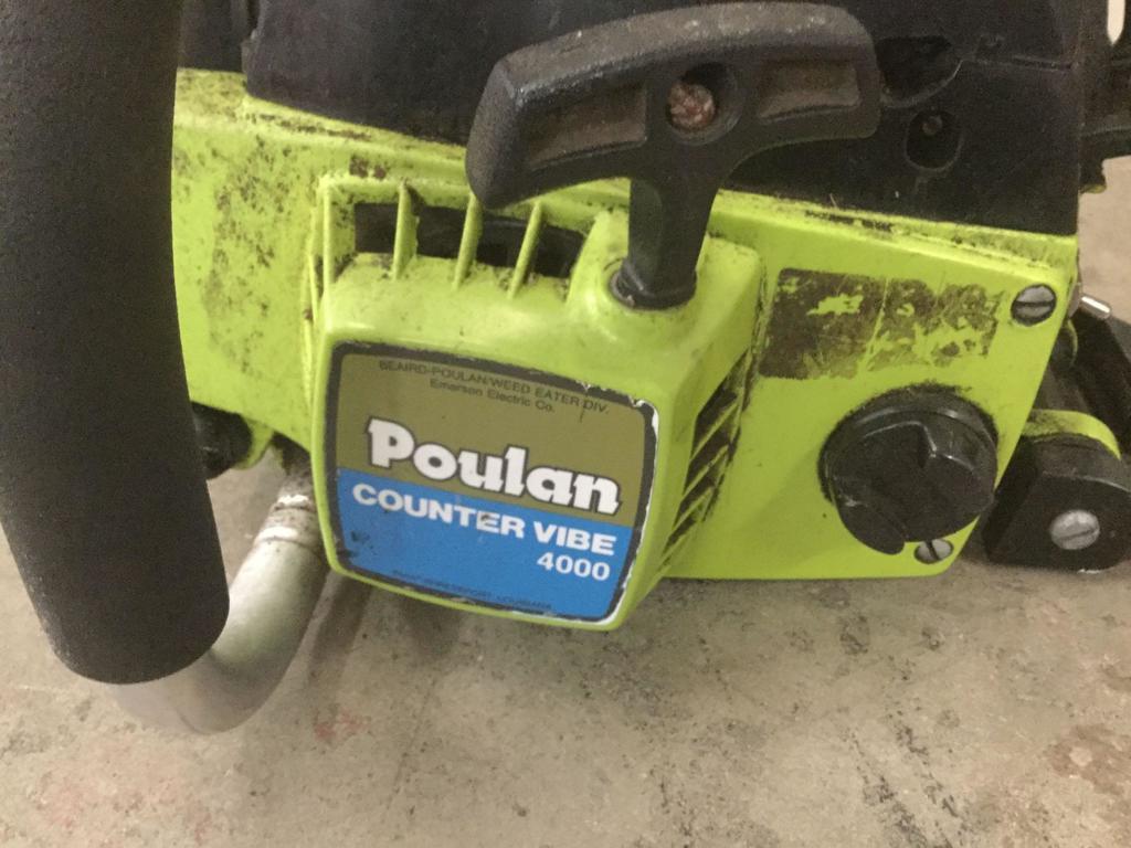 Lot: Poulan Counter Vibe 4000 Type 2, chainsaw | Proxibid
