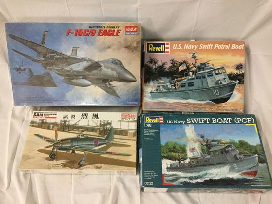4x military plastic model kits 1/48 scale - Academy, Finemolds, Revell US Navy etc see desc