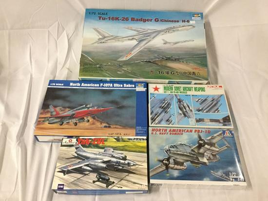 5x military plastic model kits 1/72 scale - Trumpeter, Amodel, Italeri, DML Soviet Aircraft Weapons