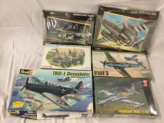 6x military plastic model kits 1/48 scale - Monogram, DML Luftwaffe, Revell, Hobby Craft and more