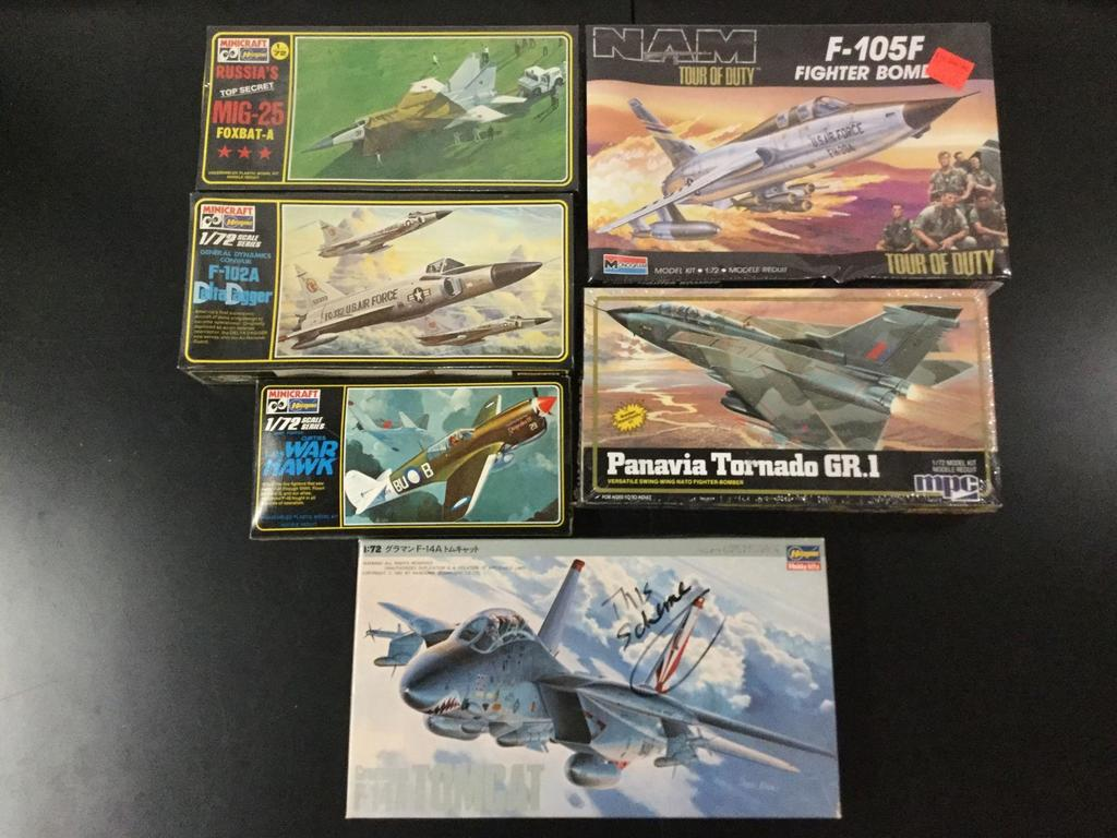 6x military plastic model kits, 1/72 scale; SEALED Minicraft-Hasegawa Russia?s Top Secret MiG-25