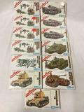 13 Aurora/ESCI Model Kits, 1/72 scale. x4 SEALED German Weapons Set, SEALED Nebelwerfer Battery, x2