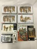 8 model kits, 1/35 scale. x3 SEALED Dragon US 101st Airborne Division, SEALED Dragon US Sniper Team,
