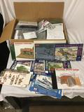 Huge lot of assorted models. Taken out of boxes in plastic in box. Includes flattened boxes. All
