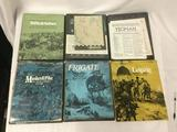 6 SPI Strategy Games, in boxes: Rifle and Saber, The Battle of Borodino, Yeoman, Musket and Pike,