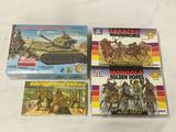 4 model kits, 1/32 scale. SEALED Renewal Blueprint Models M47 Patton Tank, AirFix Military Figures