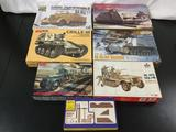 7x military plastic model kits, 1/35 scale; SEALED ARV Club German 3ton Halftrack, Shanghai Dragon