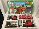 Lehmann Toy Train Set, 1:22 scale. Includes controller, engine and 2 cars, does not include tracks.