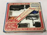 Marx Electric Train Set in box, missing two cars. Includes engine, 3 Cars, and 8 pieces of track