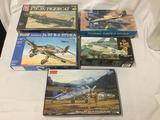 5 model kits, 1/48 scale. SEALED AMT/ERTL Grumman F7F-3N Tigercat, Revell Junkers Ju 87 B-2 Stuka,