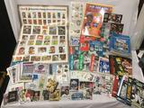Huge lot of sports memorabilia. NFL, MLB, NBA, NHL, PGA, etc. posters, cards, season guides, pins,