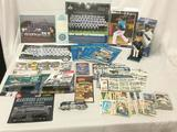 Lot of assorted Seattle Mariners memorabilia. Bobble head, posters, magnets, pins, cards, trains,