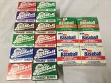 18 trading card packs, Topps and Fleer. Topps 1981-1991 Traded Series sets (x2 1991 sets), 4 Fleer