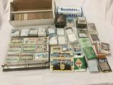Large lot of assorted baseball cards, Topps, Fleer, Pinnacle, etc. 80s and some 90s cards. Includes