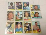 Lot of 12 vintage signed baseball cards, includes mariner. See pics