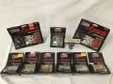 9x SEALED Monogram Mini Exacts detailed replica cars, 1/87 HO scale; 57 Chevy Bel Air, 69 mustang