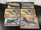 6x military aircraft plastic model kits, 1/48 scale; AMT-ERTL Grumman F7F-3N Tigercat, SEALED