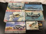 6x military aircraft plastic model kits, 1/48 scale; ESCI Douglas AD-6 (A-1H) Skyraider,