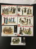 7x MiniArt / Master Box LTD. plastic soldier model kits, 1/35 scale; German Tank Repair Crew, German