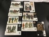 8x Master Box LTD plastic soldier military model kits, 1/35 scale; 2x Somewhere in Europe 1944,