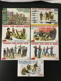 7x military soldier plastic model kits, 1/35 scale; SEALED ESCI-ERTL Modern Russian Paratroopers