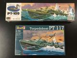 2x SEALED Revell military plastic model kits, 1/72 scale; PT-109 Commanded by Lt. (jg.) John F.