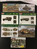 7x plastic military model kits, 1/72 scale; SEALED Hasegawa German 8ton Half-Track, SEALED German