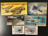 4x military plastic model kits, 1/48 scale; SEALED ICM Soviet Air Force Pilots and Ground Personnel,